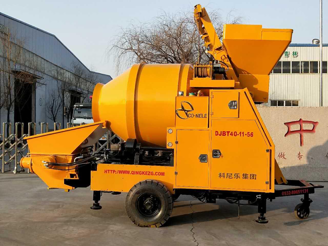 混凝土泵 青科重工 攪拌拖泵